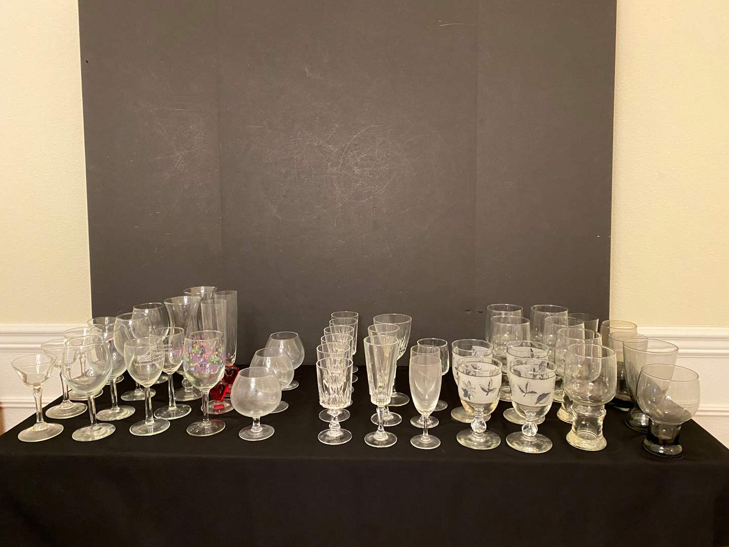 Lot # 112 - Misc. Selection of Stemware  (main image)