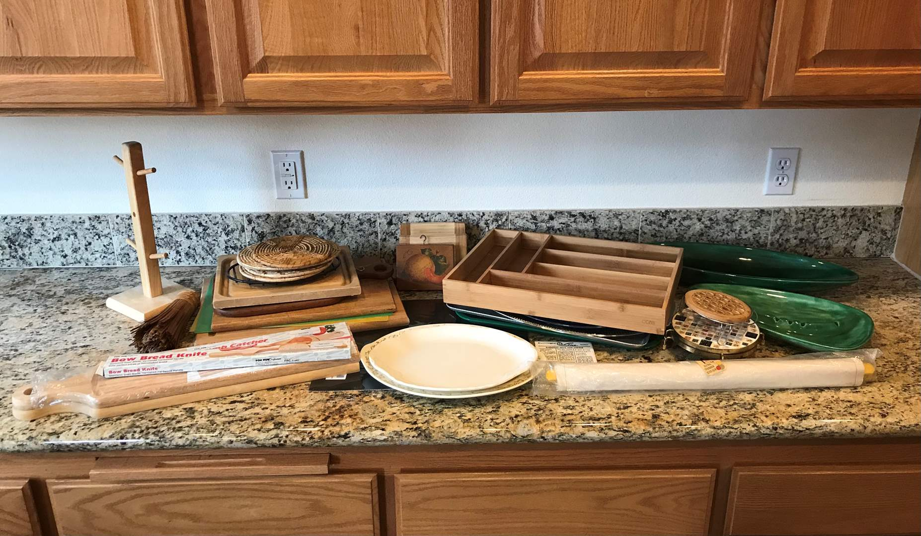 Lot # 80 - Serving Platters, Cutting Boards & More.. (main image)
