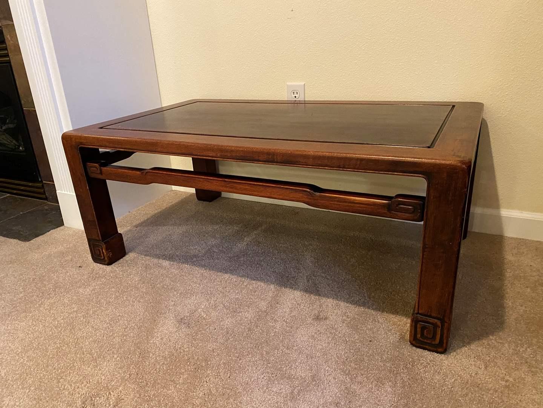 Lot # 124 - Nice Solid Cherry Wood Coffee Table  (main image)