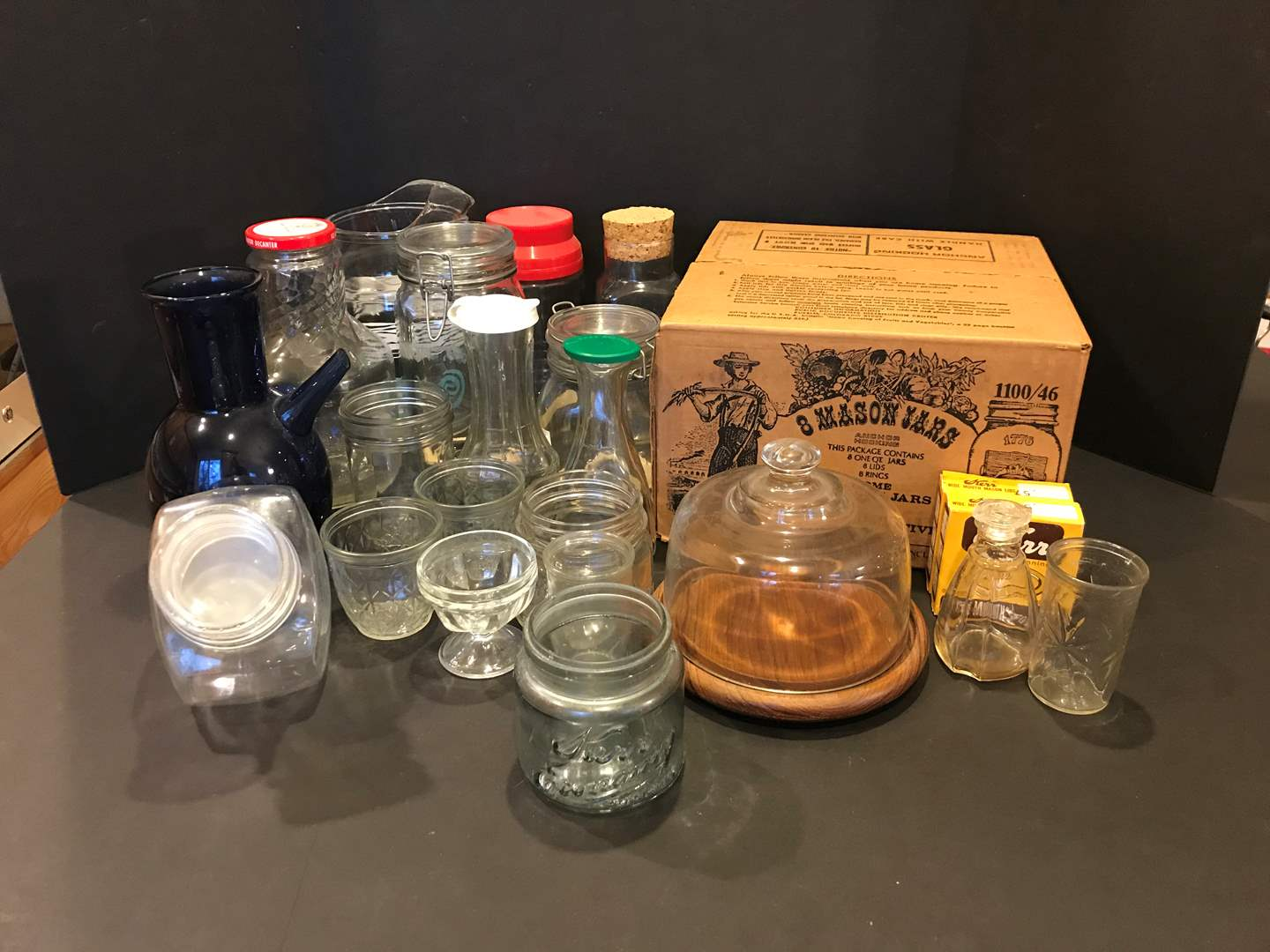 Lot # 89 - Eight New in Box Mason Jars, Misc. Canisters & Jars (main image)