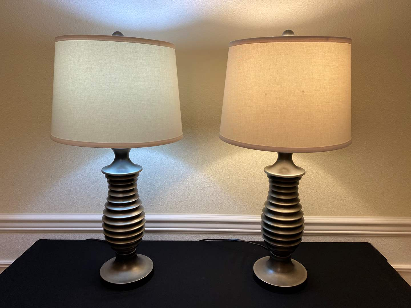 "Lot # 127 - Two Metal Table Lamps - 29"" Tall  (main image)"