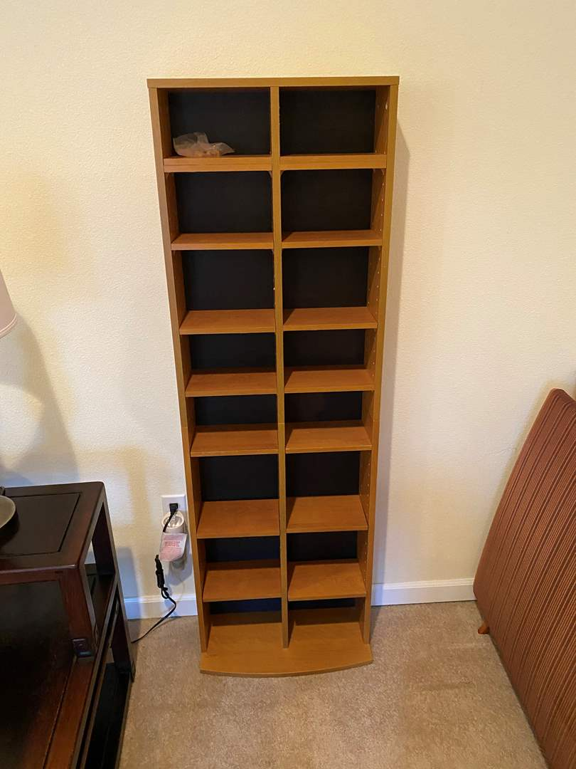Lot # 134 - Wood DVD/CD Tower (main image)