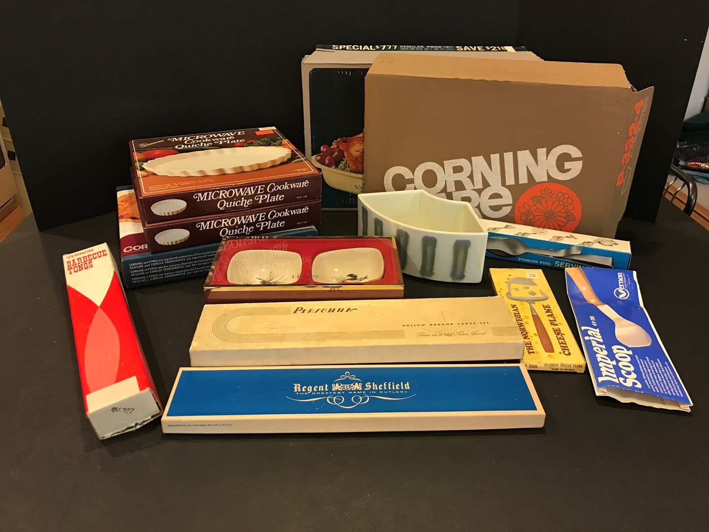 Lot # 96 - New in Box Corning Ware Baking Dishes of Various Sizes, Kitchen Utensils & More.. (main image)