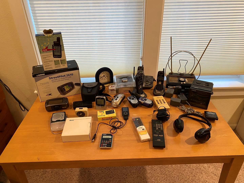 Lot # 176 - Electronic Items: Garmin Z610, Panasonic Cordless Phones, Clocks, Watches & More.. (main image)