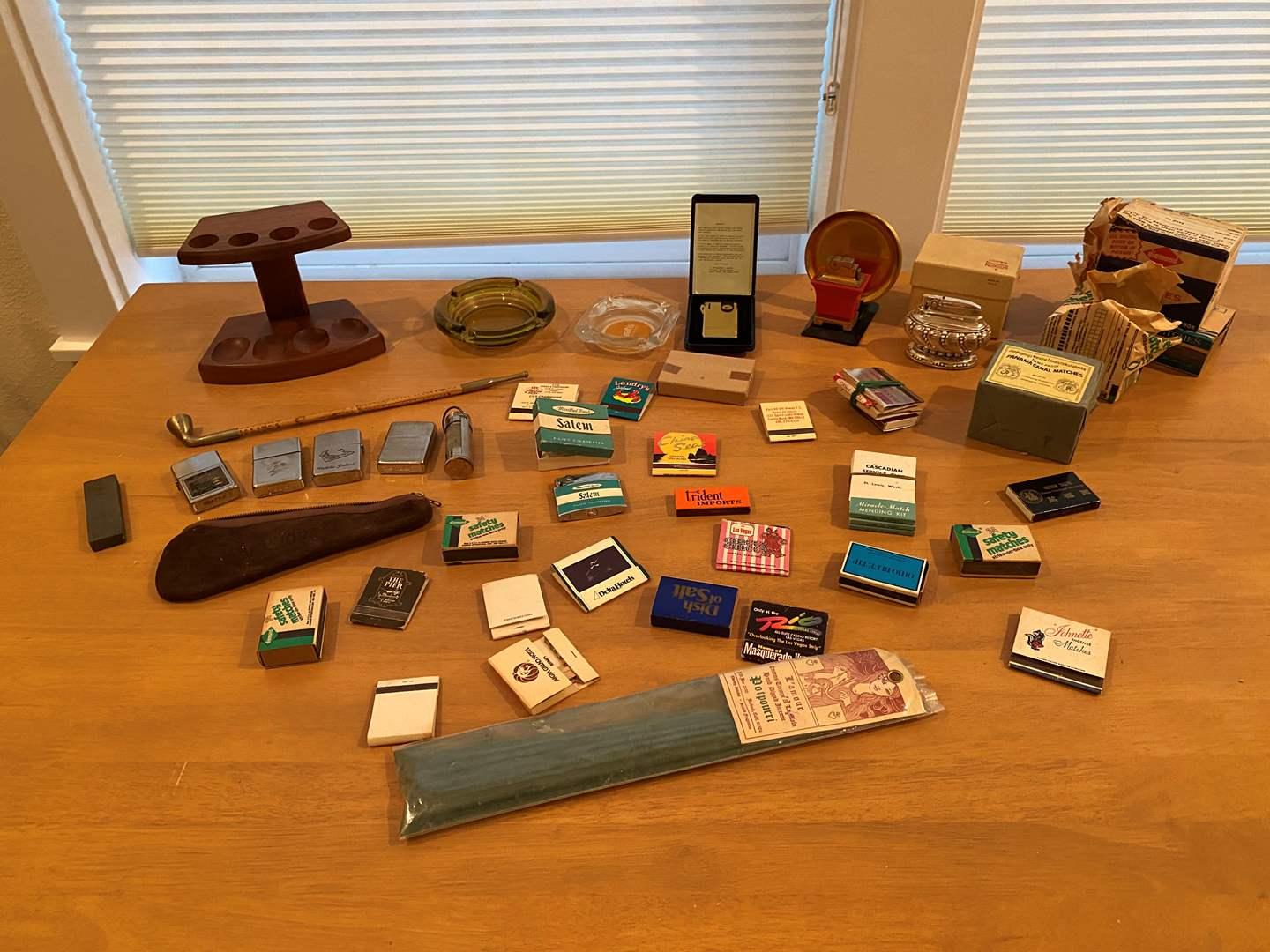 Lot # 183 - Collection of Vintage Lighters & Matches (main image)