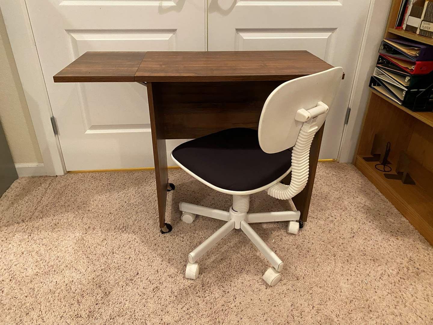 Lot # 190 - Small Rolling Desk w/Chair  (main image)