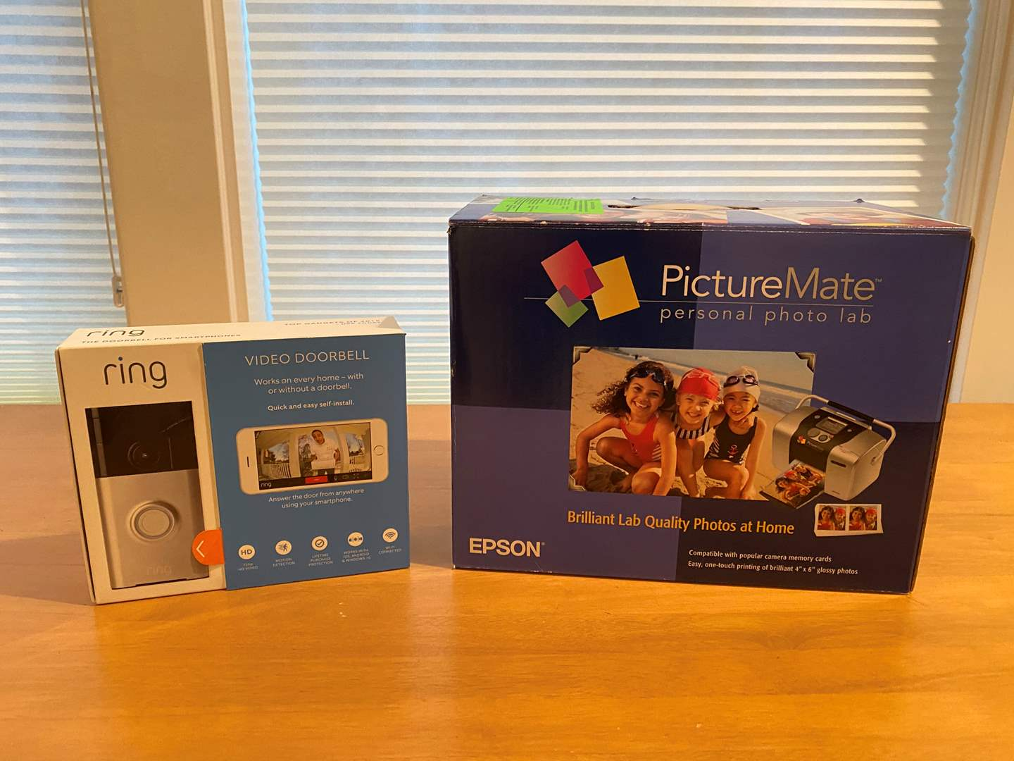 Lot # 198 - Ring Video Doorbell, Epson Picturemate Personal Photo Lab (main image)