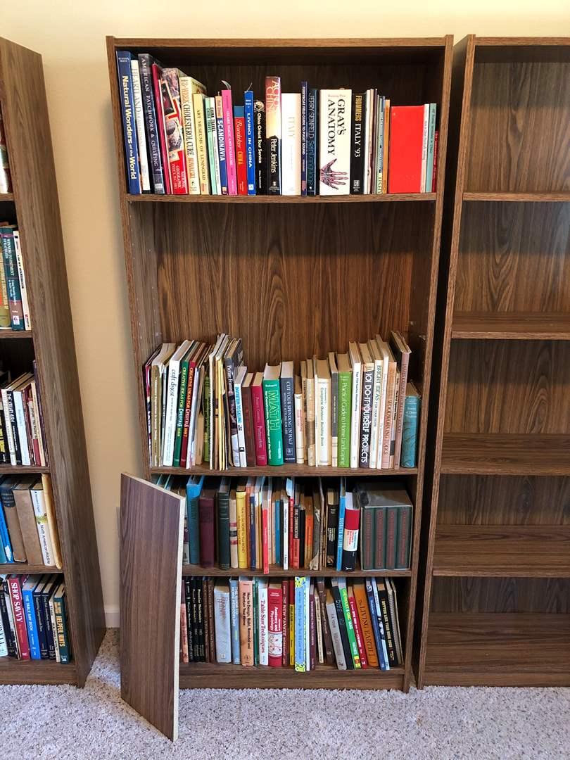 Lot # 233 - Bookshelf & Books: National Geographic, Grays Anatomy, 101 DIY, Craft Digest, Walt Disney & More.. (main image)