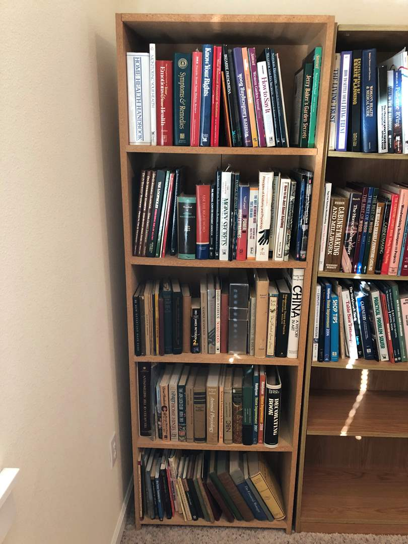 Lot # 236 - Bookshelf w/Books: Readers Digest, Home Improvement, James Patterson & More.. (main image)