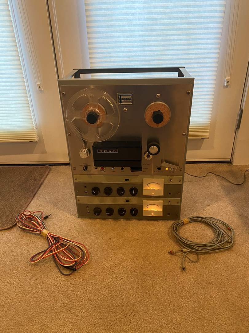 Lot # 238 - Large Vintage Teac Reel-to-Reel Tape Recorder (main image)