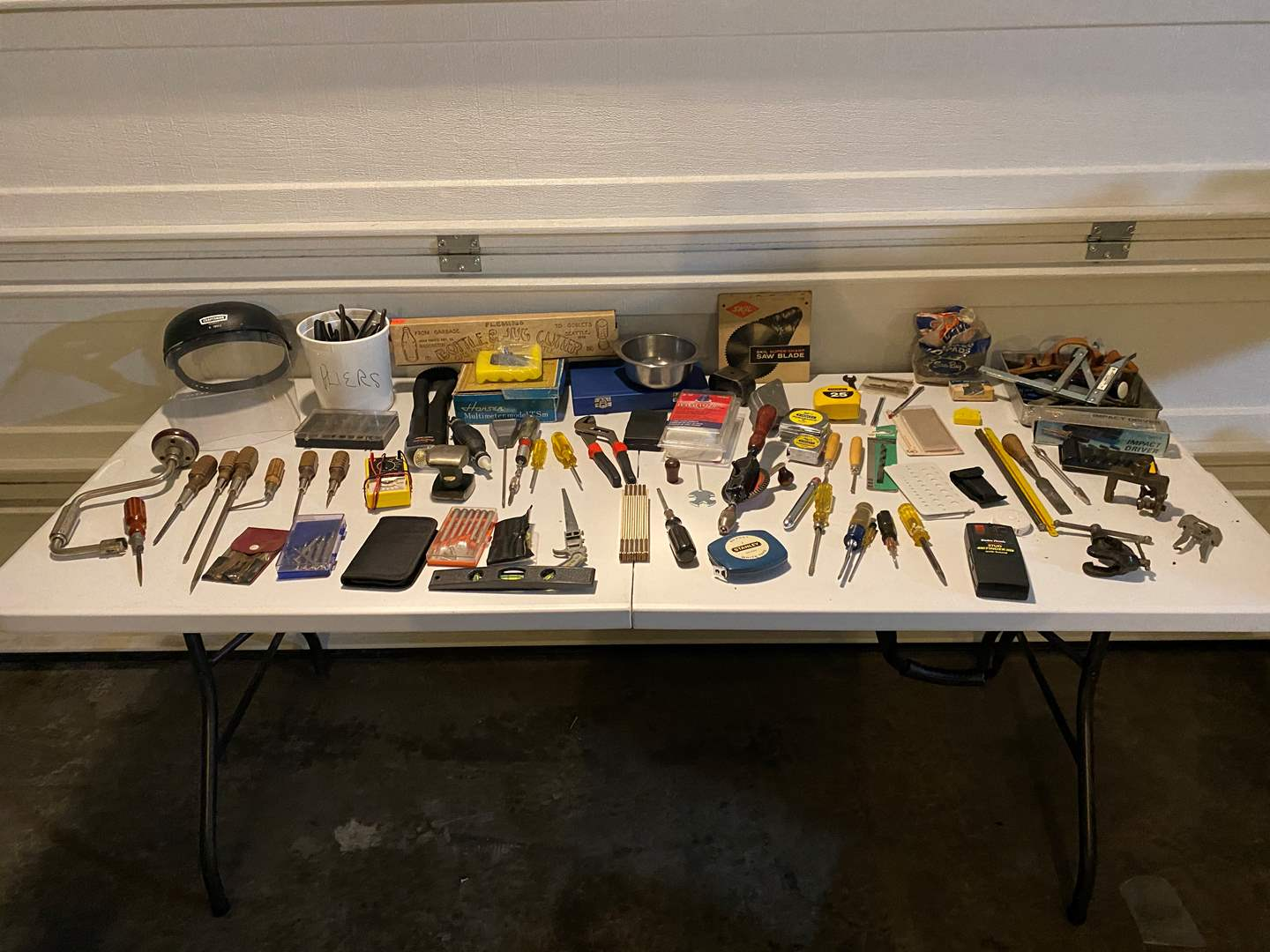 Lot # 323 - Table Full of Hand Tools - See Pictures for Details (main image)