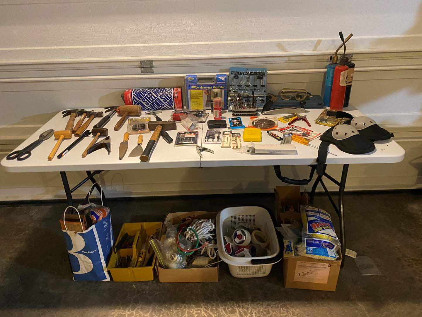 Lot # 325 - Misc. Hand Tools, Ropes, Tapes, Gloves & More..  (main image)