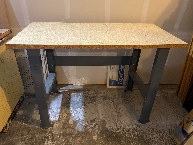 Lot # 330 - Metal Work Bench w/Wood Top (main image)
