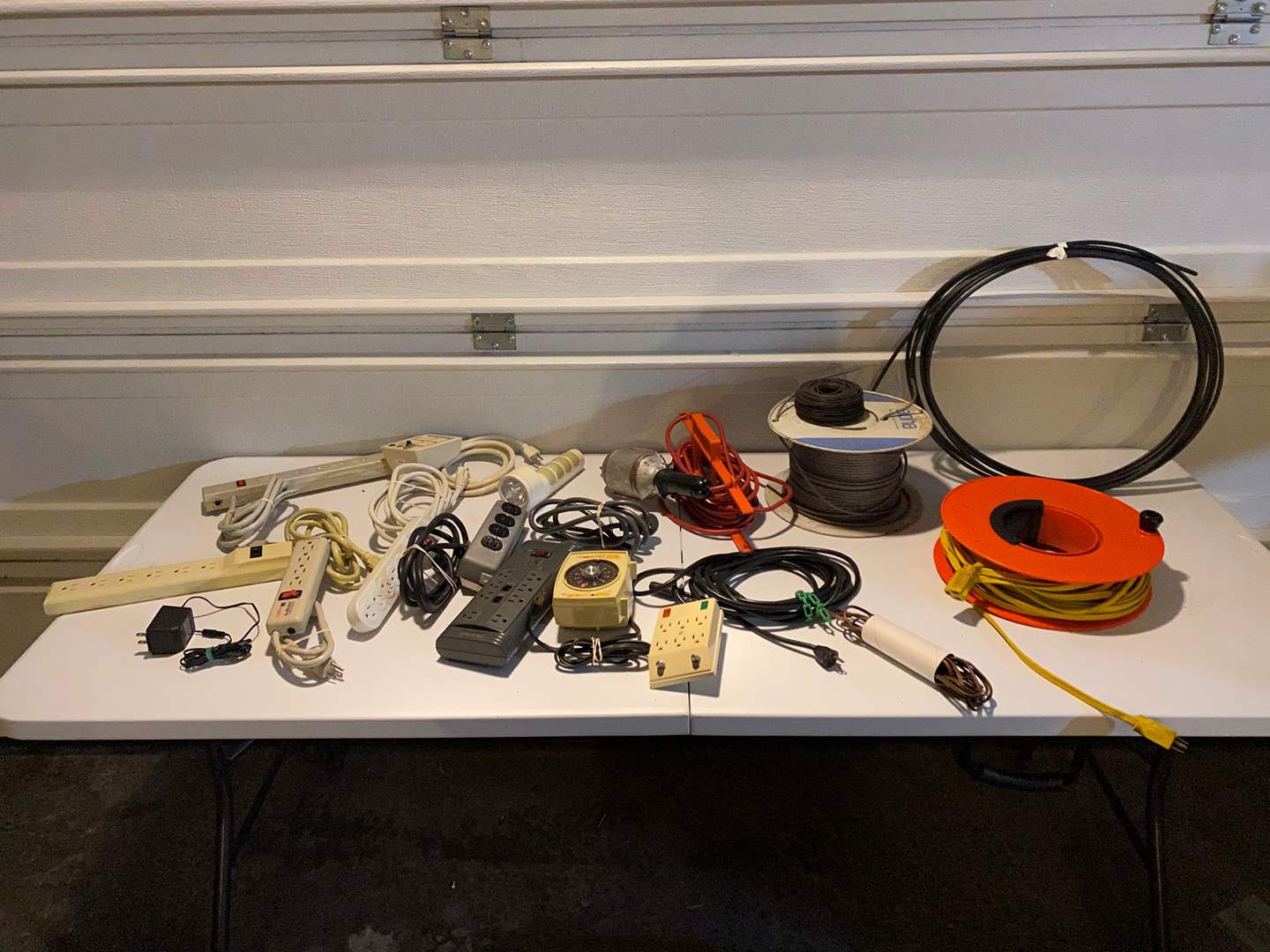 Lot # 340 - Extension cords, Drop Lights, Power Strips, Wire & More.. (main image)