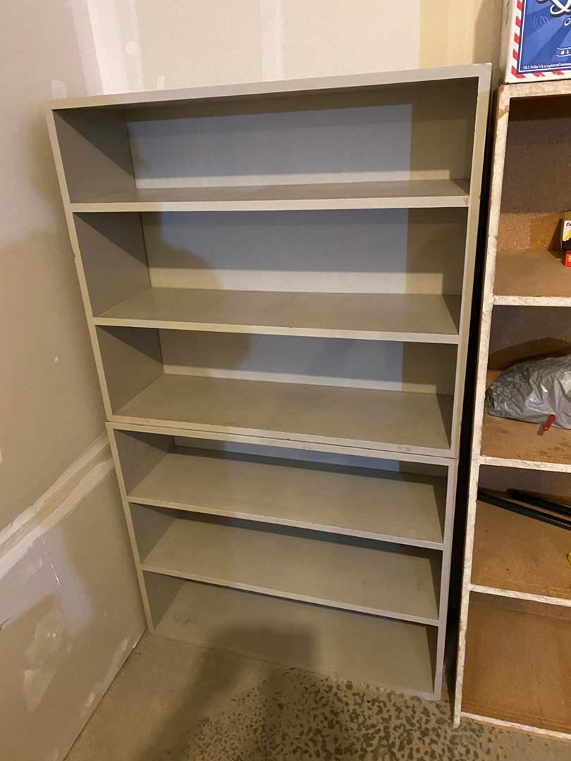 Lot # 346 - Two Stacking Wood Shelves (main image)
