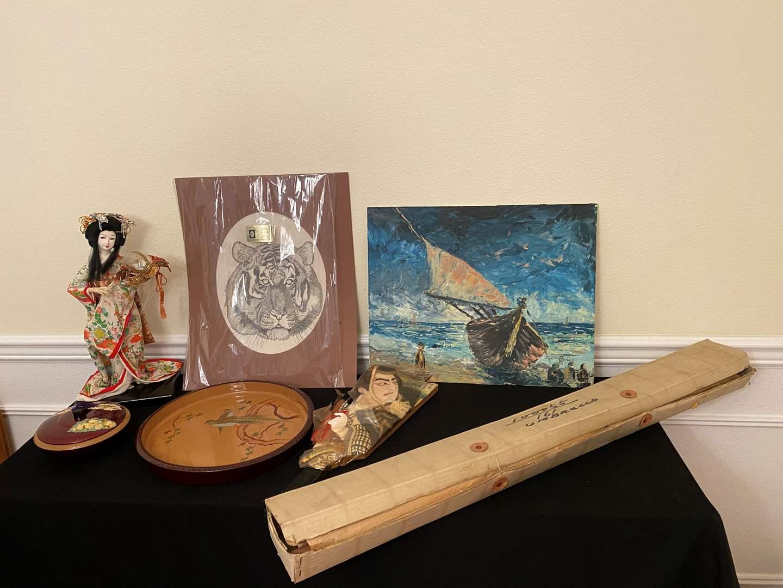 Lot # 247 - Asian Doll, Asian Artwork, Umbrellas, Dishes & More.. (main image)
