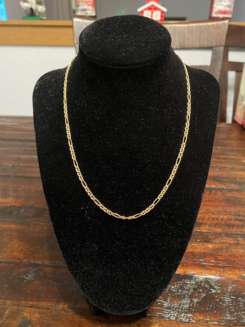 """Lot # 263 - 18k Gold/750 16"""" Necklace - (Stamped & Tested - 4.78 grams) (main image)"""