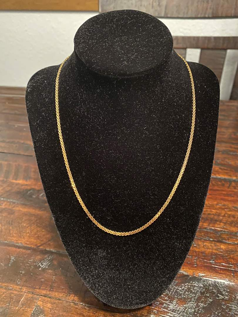 """Lot # 265 - 14k Gold 18"""" Necklace - (Stamped & Tested - 4.62 grams) (main image)"""
