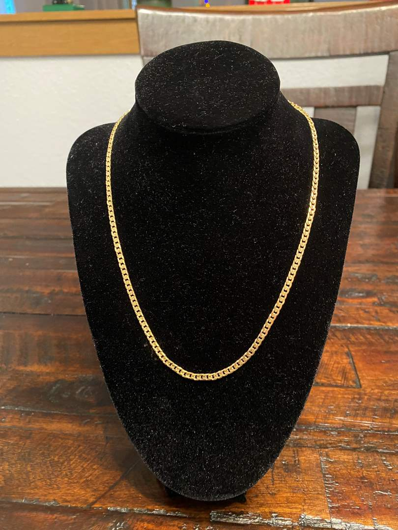 "Lot # 266 - 14k Gold 18"" Necklace - (Stamped & Tested - 11.33 grams) (main image)"