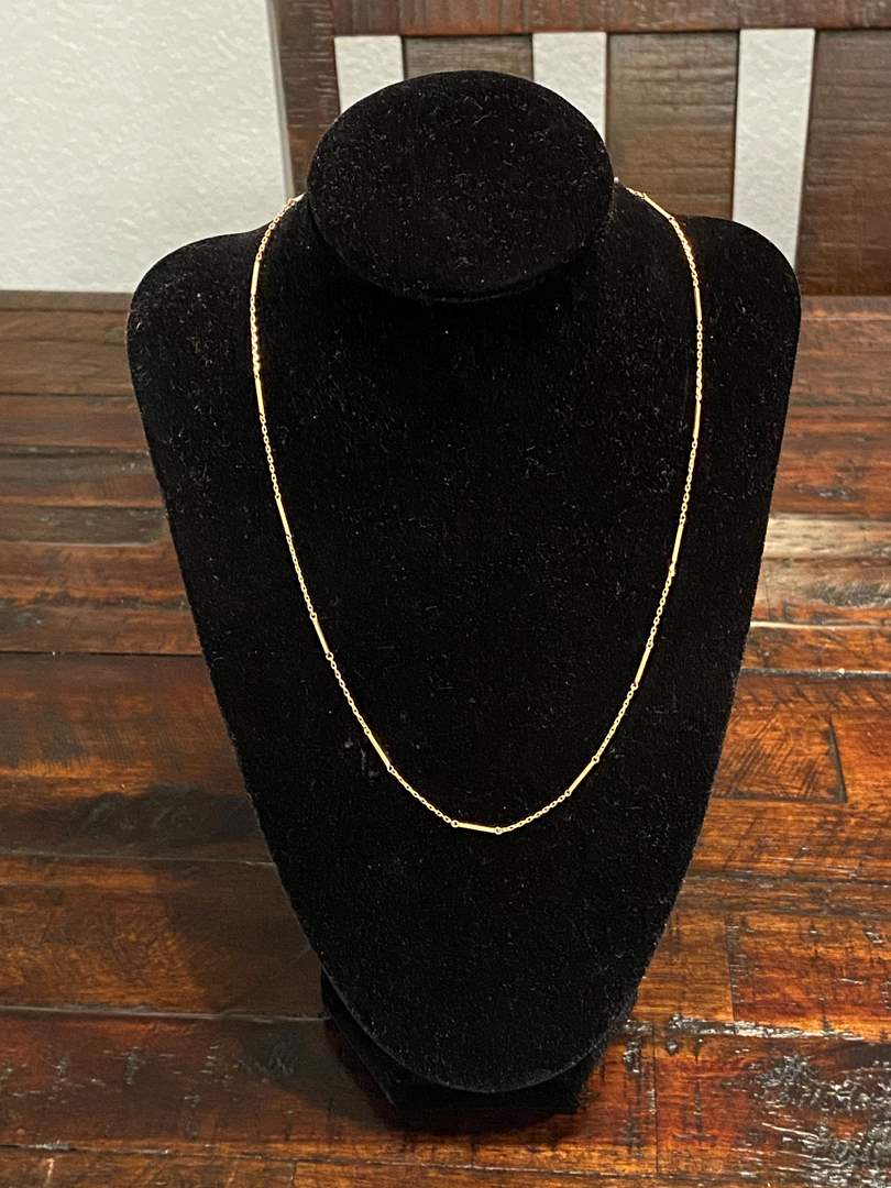 """Lot # 268 - 14k Gold 18"""" Necklace - (Stamped & Tested - 2.61 grams) (main image)"""