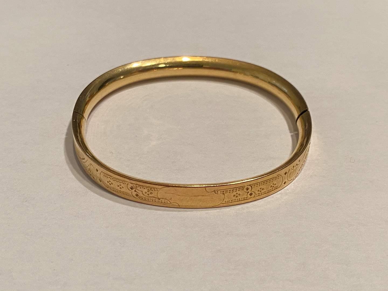 Lot # 269 - 14k Gold Shell Bracelet - (Stamped & Tested - 8.26 grams) (main image)