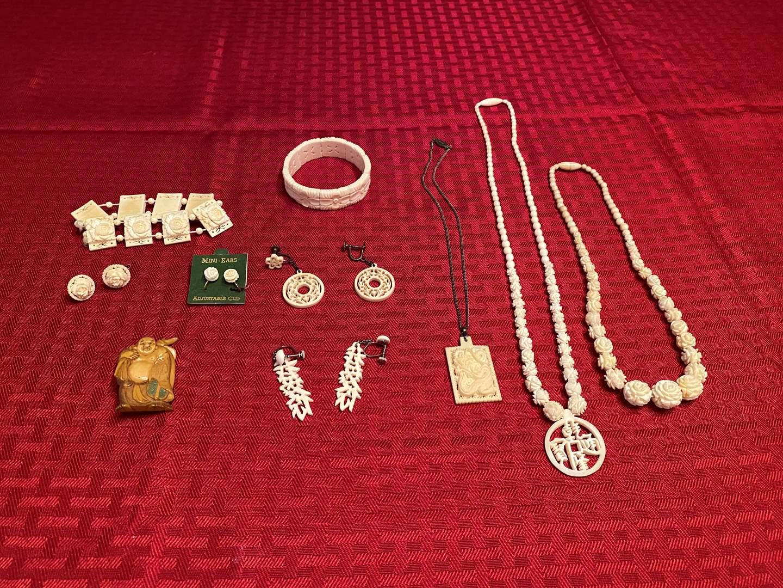 Lot # 282 - Antique Ivory Jewelry (main image)