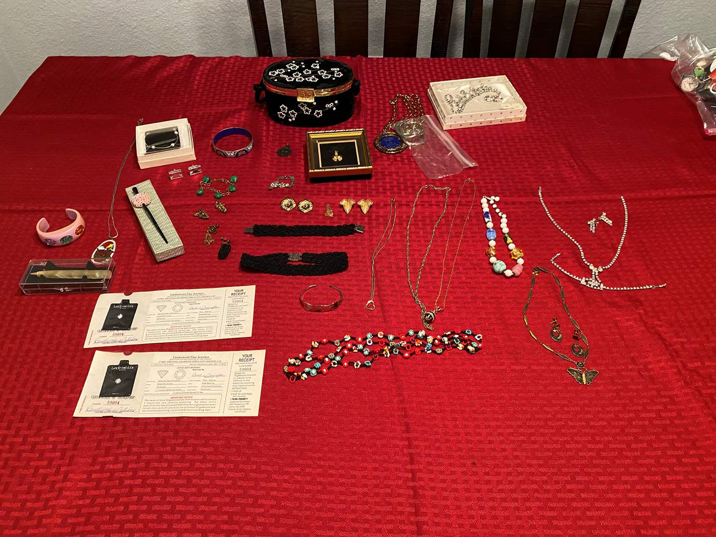 Lot # 284 - Vintage Costume Jewelry: Necklaces, Earrings Bracelets & More (main image)