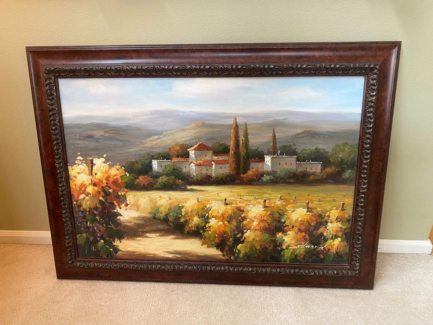 Lot # 9 - Beautifully Framed Original Oil on Canvas by Sedward (main image)