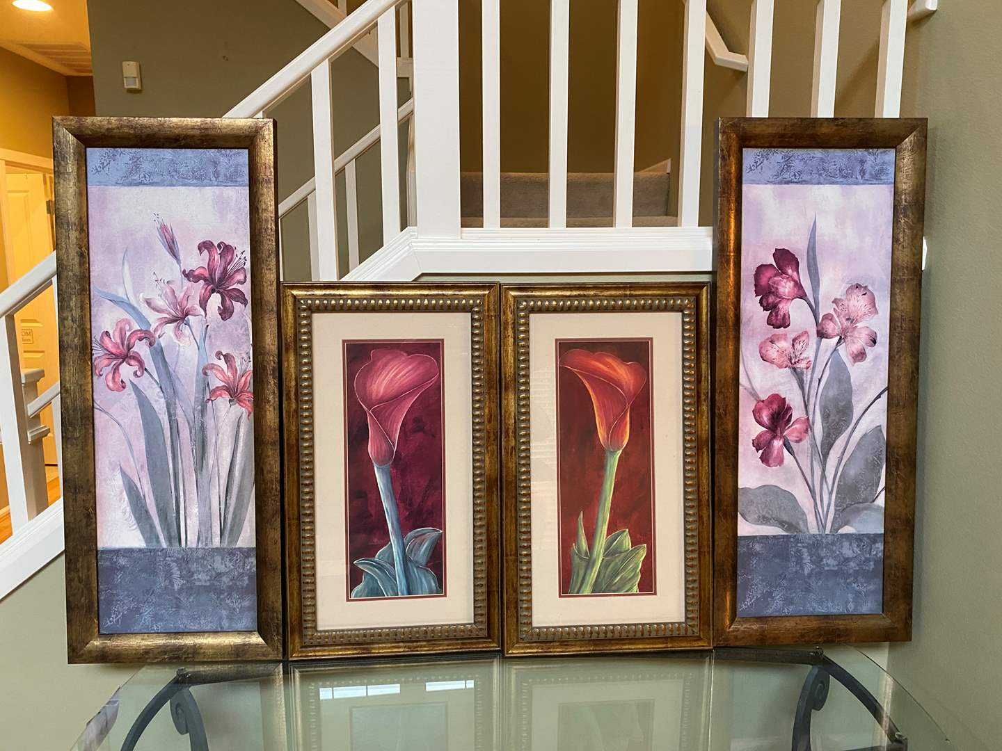 Lot # 11 - Two Sets of Framed Floral Wall Art (main image)