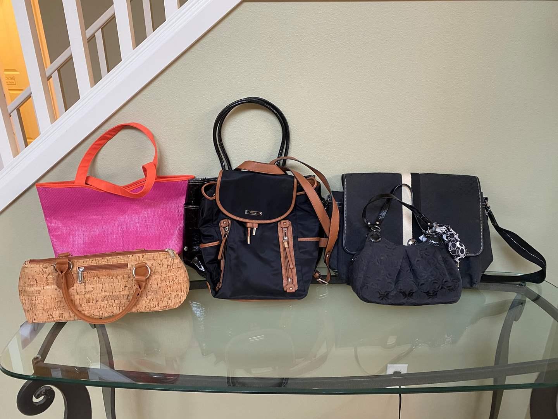 "Lot # 12 - Two Nice ""Coach"" Handbags, Two ""Ninewest"" Handbags & Two Misc. Bags (main image)"