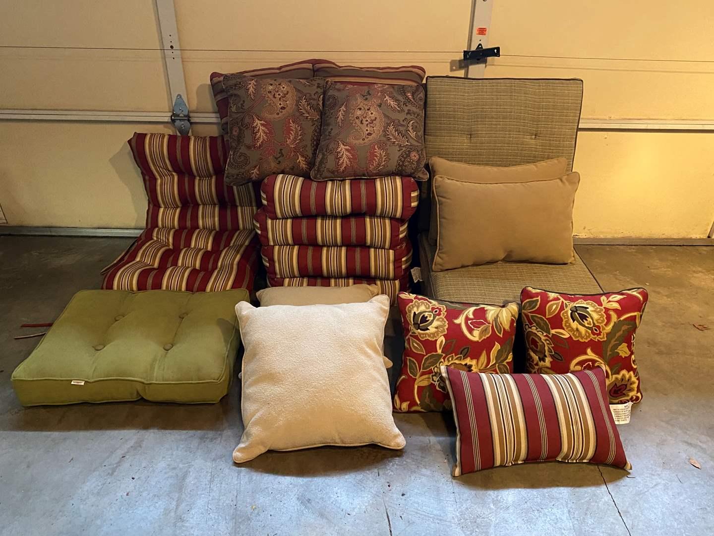 Lot # 112 - Outdoor Chair Cushions & Throw Pillows (main image)