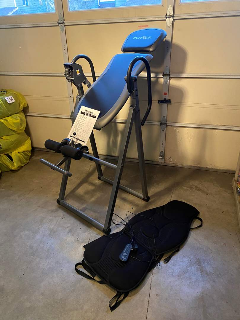 """Lot # 121 - Nice """"Innova"""" Heavy Duty Deluxe Inversion Therapy Table w/Massage Pad - Great Condition  (main image)"""
