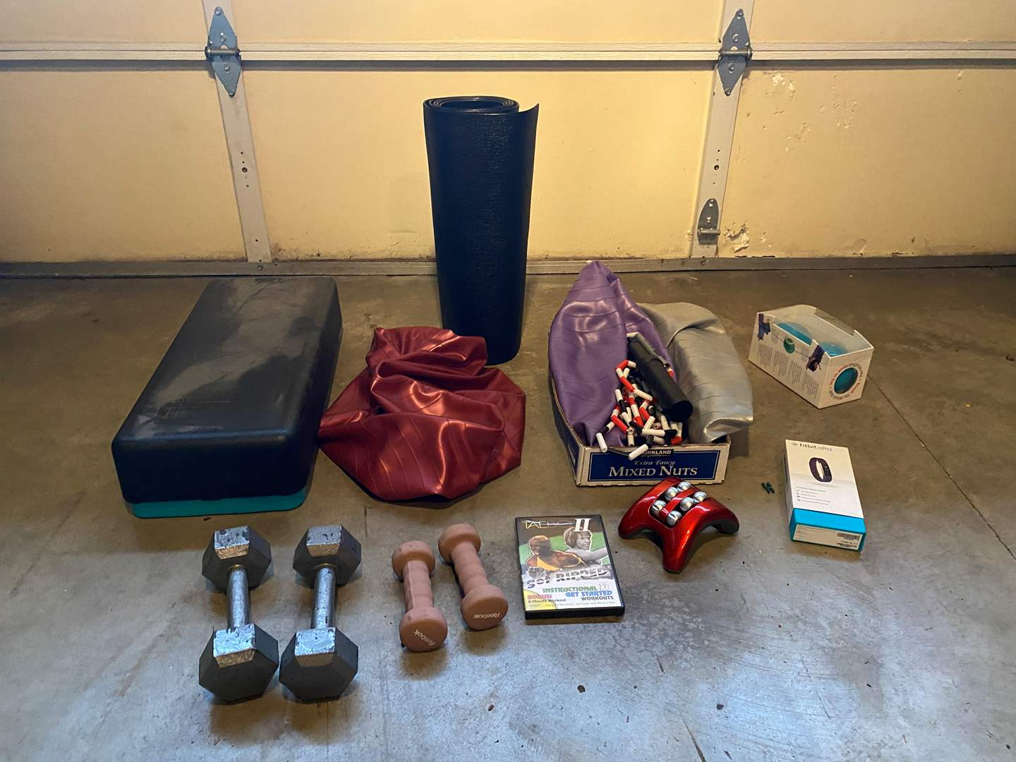 Lot # 122 - Fitness: New in Box Fitbit Alta, Weights, Balls, Taebo DVD, Body System Step & More.. (main image)