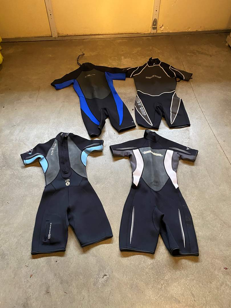 Lot # 127 - Two Sea-Doo Woman's Wetsuits, Oneill Wetsuit, Dive-n-Surf Wetsuit - See Pictures for Sizes (main image)