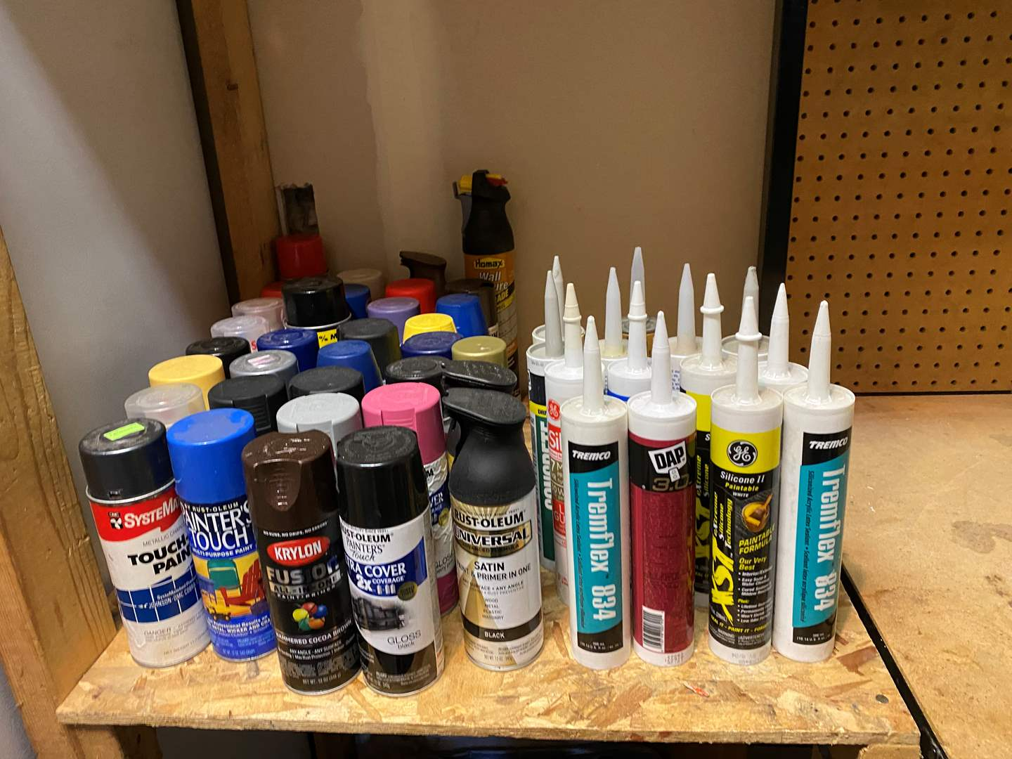 Lot # 150 - Selection of Misc. Spray Paints, Caulking & Grout (main image)