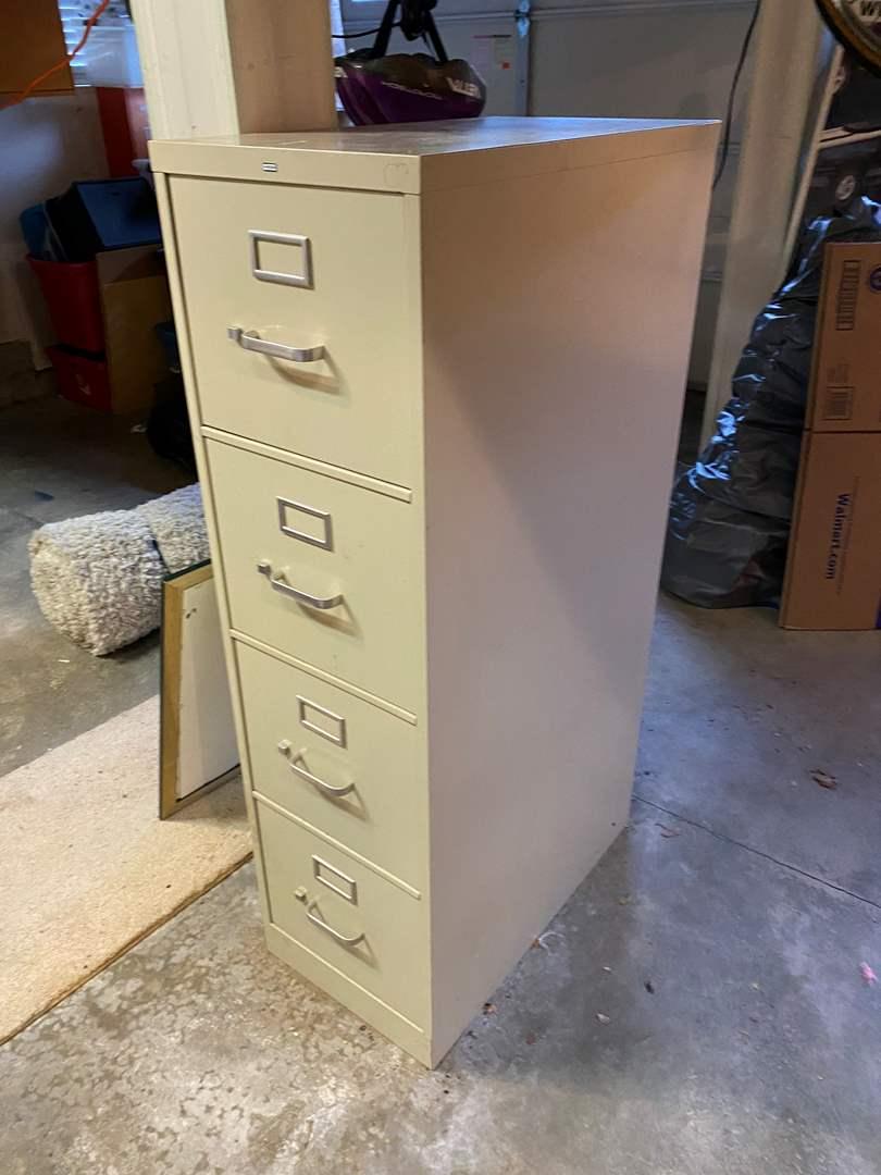 """Lot # 161 - """"HON"""" 4-Drawer Metal File Cabinet (main image)"""