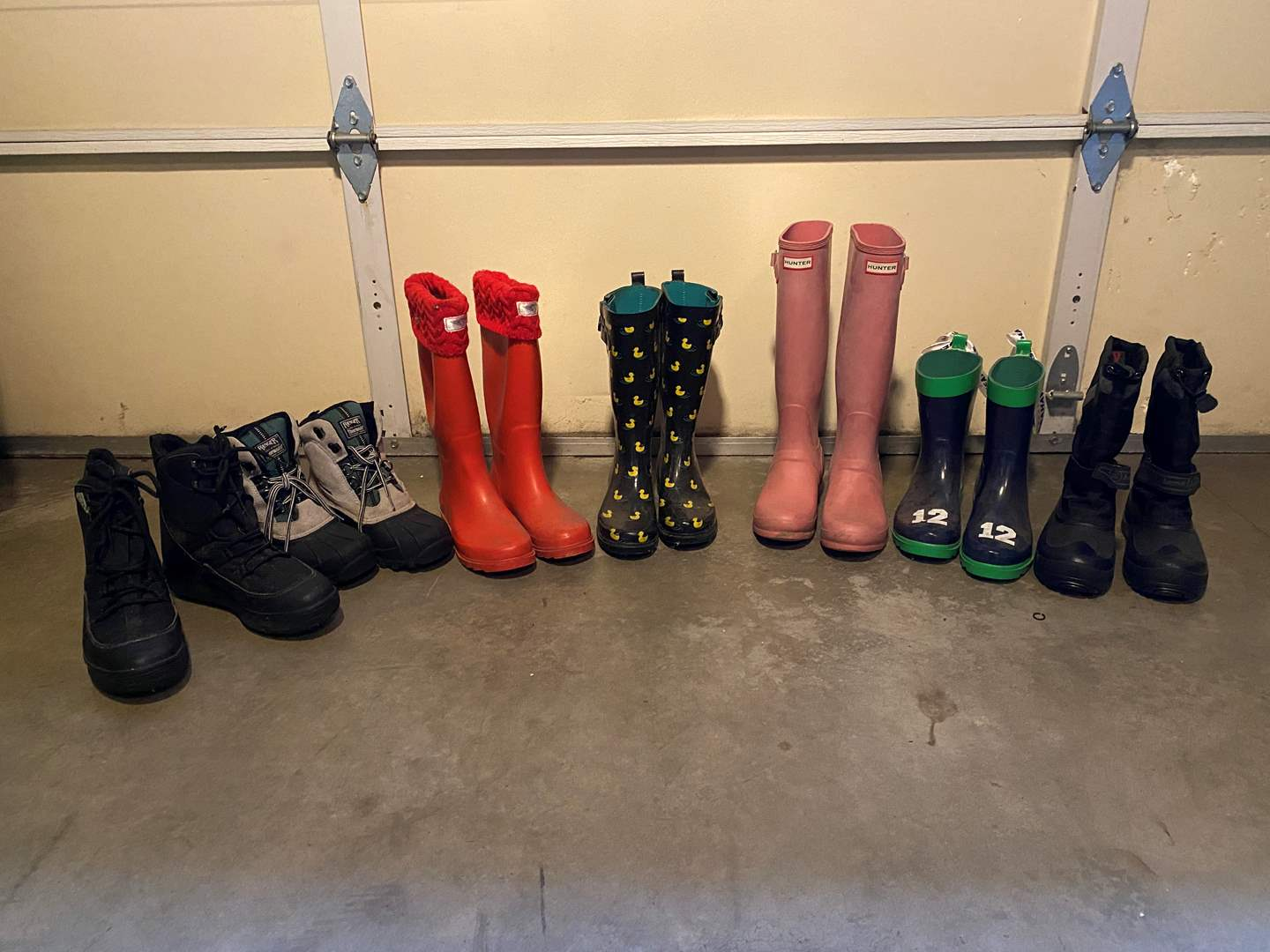 Lot # 163 - Adidas Spiked Lawn Shoes, Woman's Rubber Boots & Other Misc. Boots (main image)