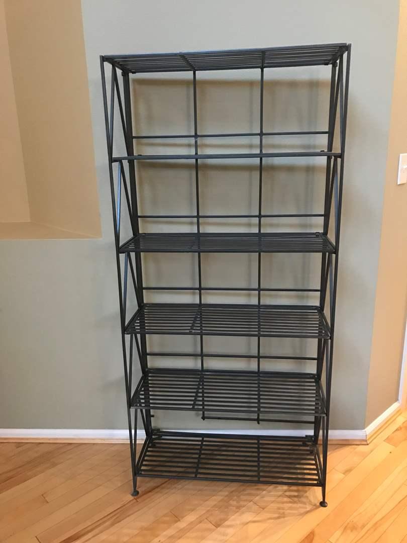 Lot # 85 - Heavy Metal Folding Shelf Unit (main image)