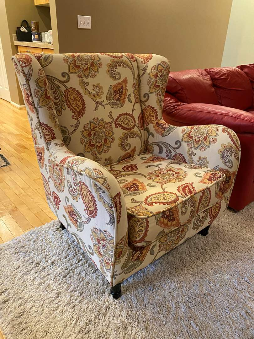 Lot # 77 - Nice Wing Back Arm Chair from Pier 1 Imports  (main image)
