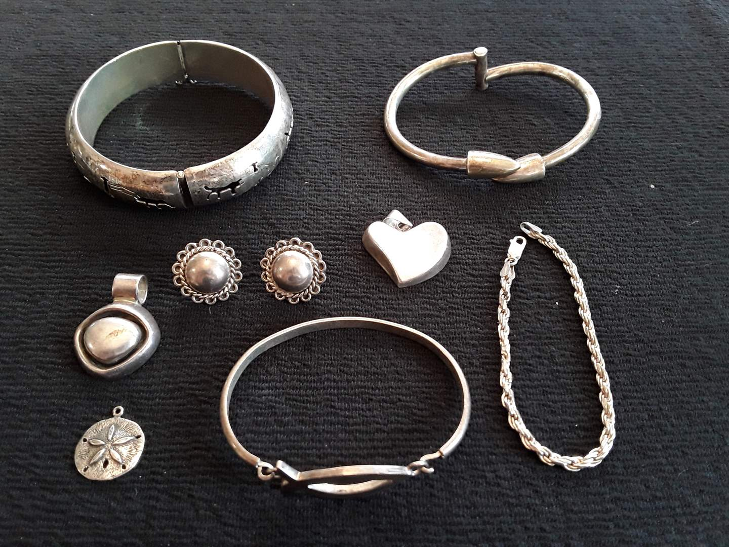 Lot # 61 - Lot of (8) Pieces of Sterling Jewelry (main image)