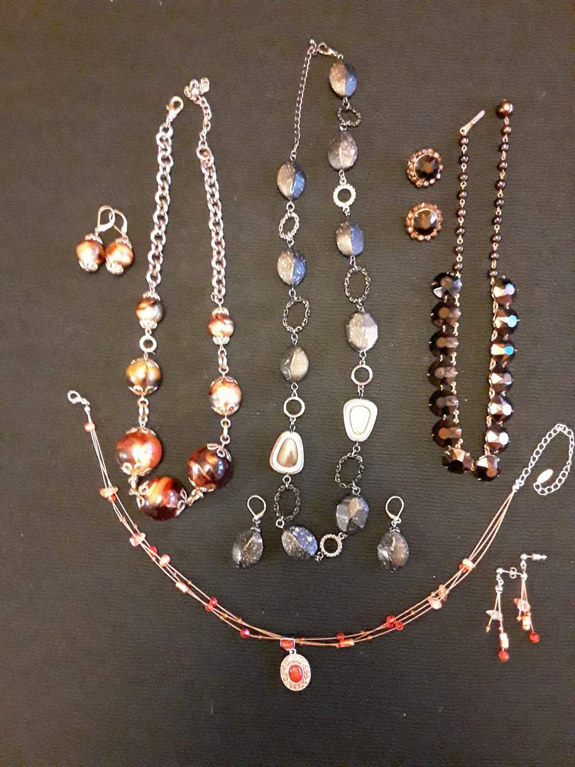 Lot # 67 - Lot of (4) Fashion Necklace and Earring Sets  (main image)