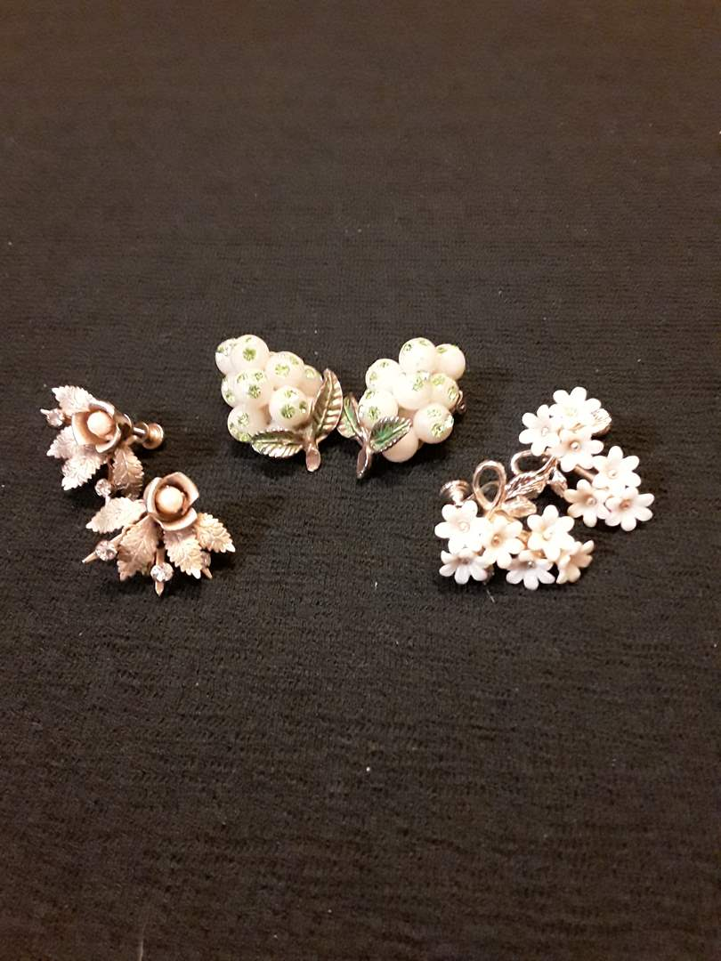 Lot # 73 - Lot of (3) Pairs of Antique Costume Earrings (main image)