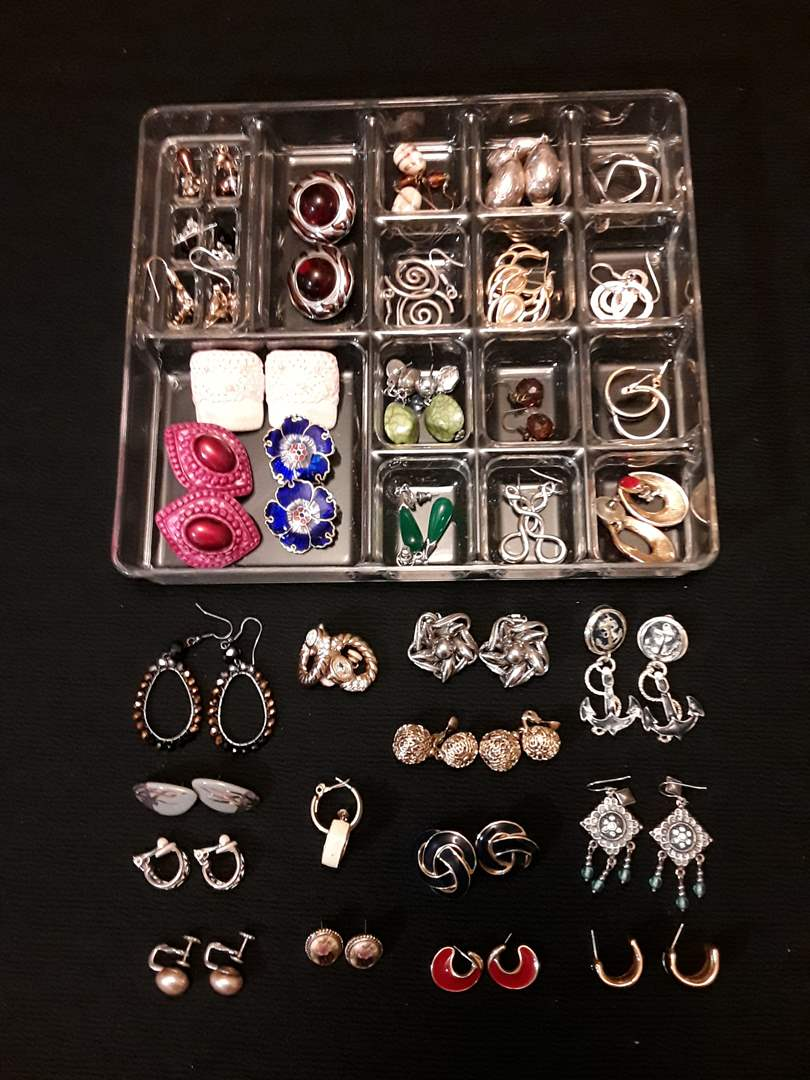 Lot # 74 - Large Lot of (33) Fashion Earrings - Several Styles (Pierced, Screw-Back, and Clip-On) (main image)