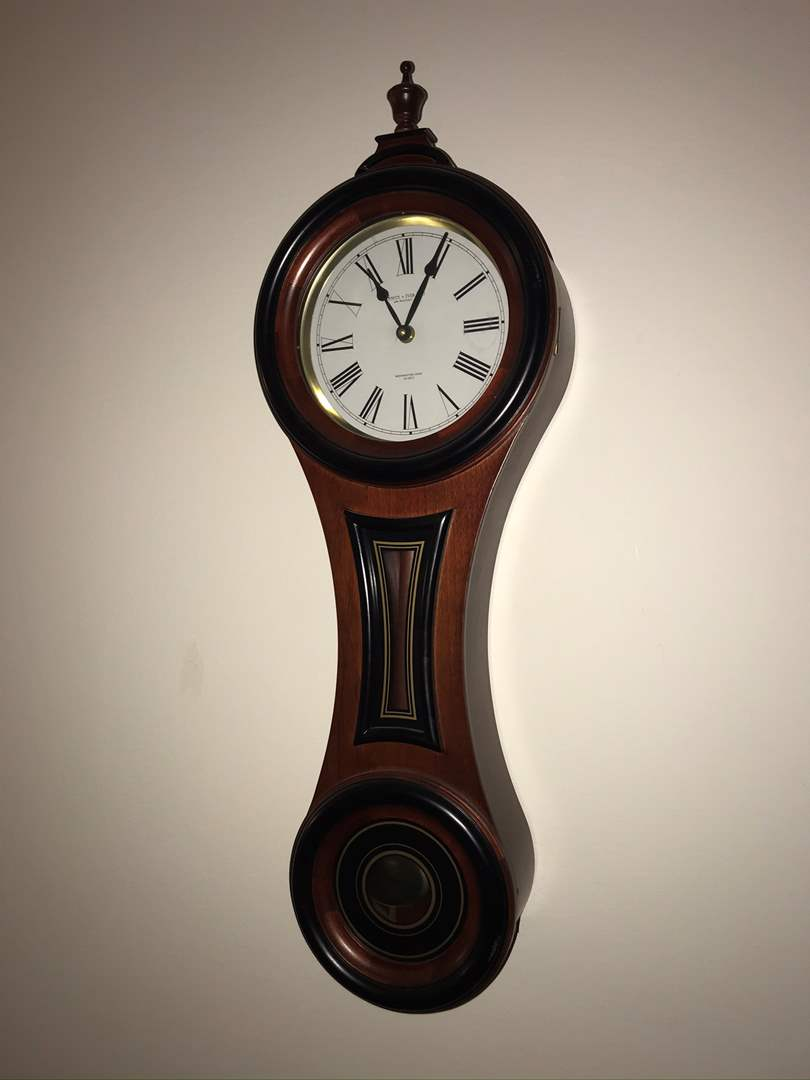 Lot # 8 - Smith & Ives Manchester Winchester Chime Mahogany Wall Clock (main image)
