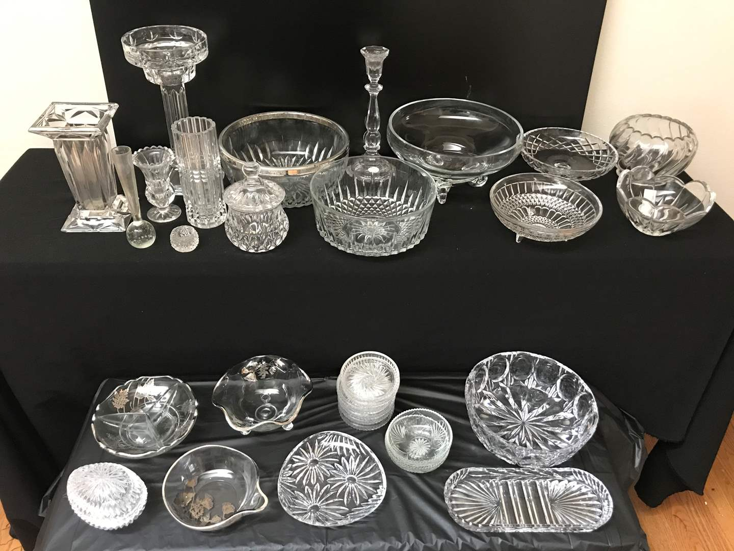 Lot # 43 - Lot of (30+) Crystal, Leaded Crystal, Cut Crystal Pieces (main image)