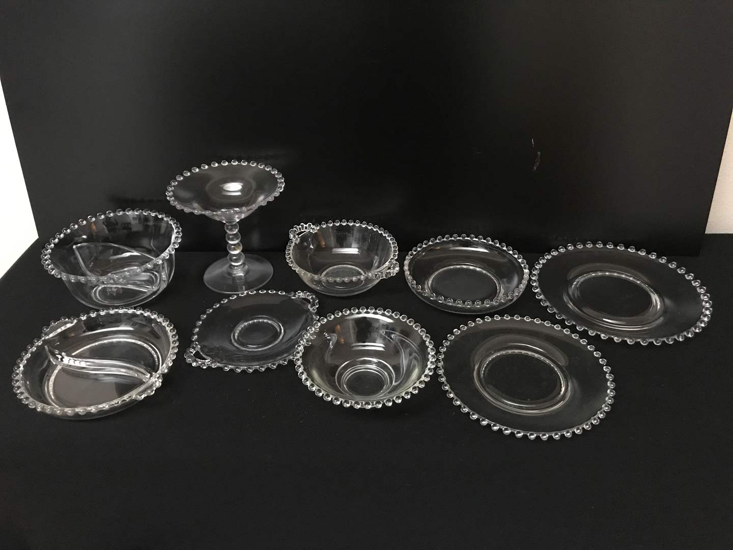 Lot # 45 - Lot of (9) Vintage Collectible Pieces of Candlewick Glass (main image)