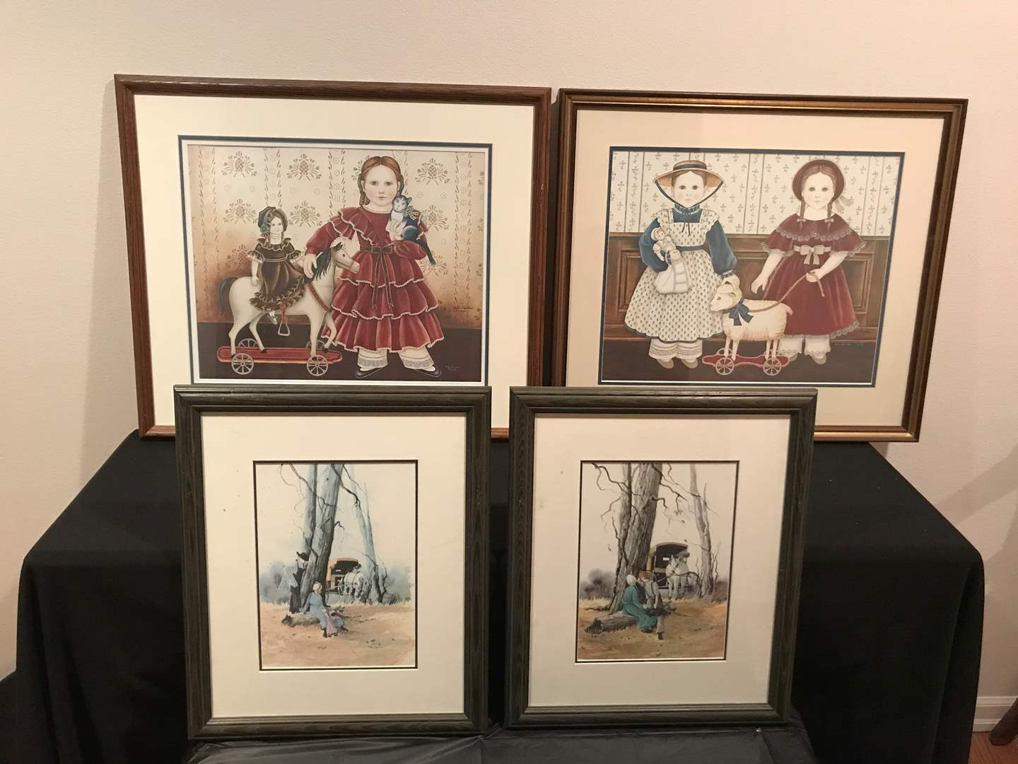 Lot # 57 - Four (4) Amish Framed Art by Nita Showers and Vera Kirk (main image)