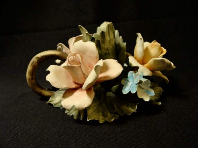 Lot # 82 - Italian Capodimonte Porcelain Rose  (main image)