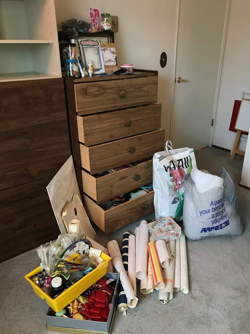 Lot # 102 - Crafting Items: 5 Drawers Full, Yarn, Needlepoint, Knitting & More.. (main image)