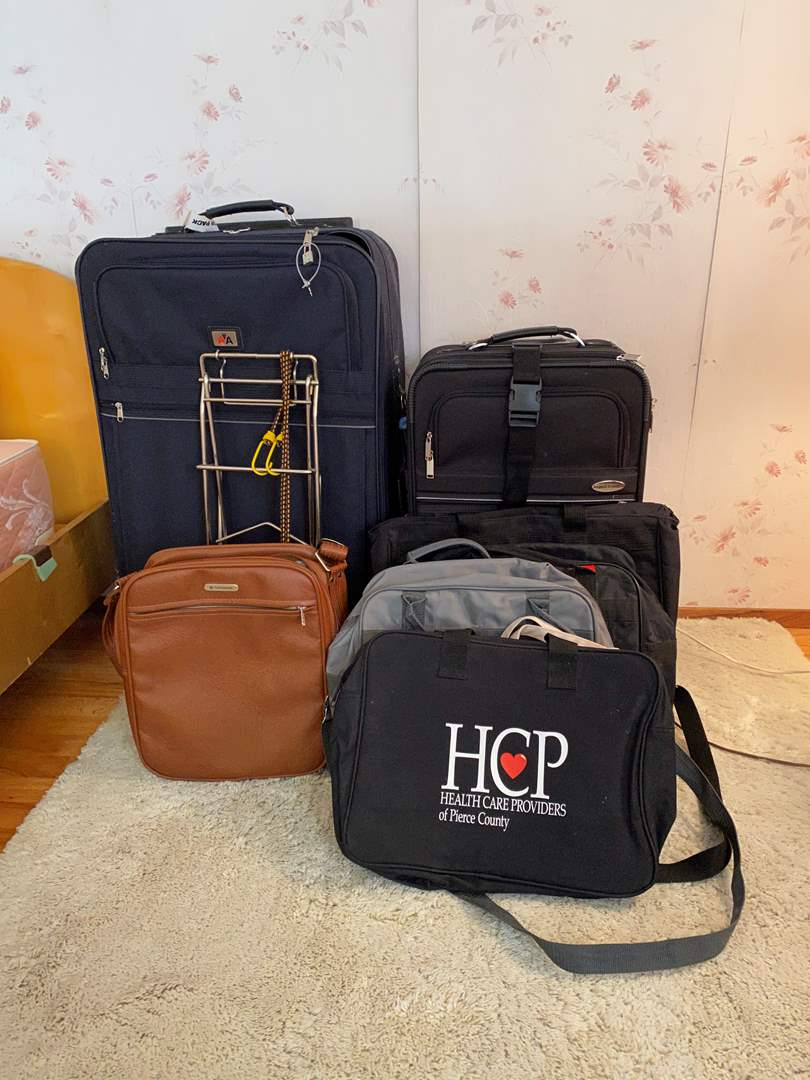 Lot # 8 - Suitcases, Totes & Handbags of Various Sizes (main image)